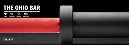 catalog/Weightlifting Bars and Plates/Barbells/Mens 20KG Barbells/OHIOCERAKOTE/OHIOCERAKOTE-red-black-Dynamic-H_okr9gg