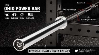 Rogue 20KG Ohio Power Bar - Black Zinc