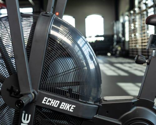 Echo Bike Wind Guard close-up