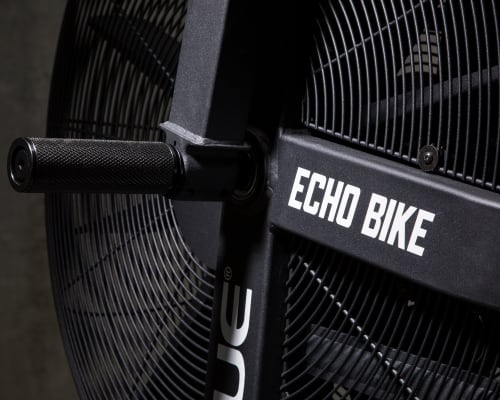 Echo Bike fan close-up