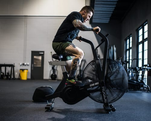 Echo Bike in use by athlete