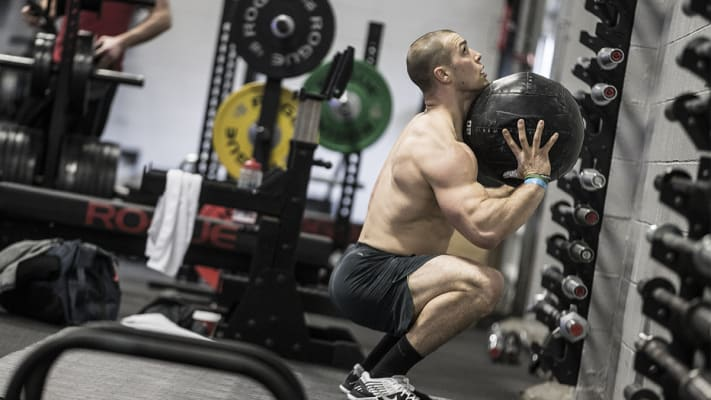 Rogue Medicine Balls in use by Rogue athlete Cole Sager