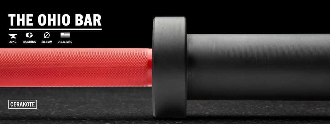 catalog/Weightlifting Bars and Plates/Barbells/Mens 20KG Barbells/AU-OHIOCERAKOTE/AU-OHIOCERAKOTE-red-h-dynamic_2_koidgm